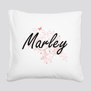 Marley Artistic Name Design w Square Canvas Pillow