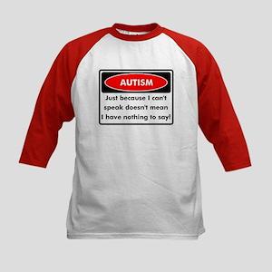 Autism Warning Kids Baseball Jersey