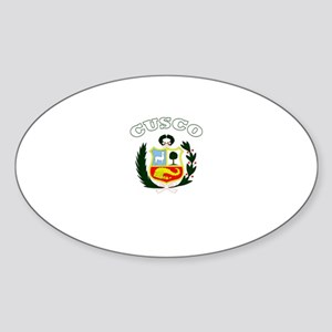 Cusco, Peru Oval Sticker