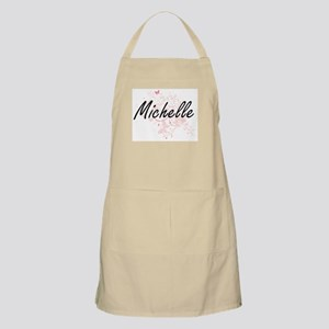 Michelle Artistic Name Design with Butterfli Apron