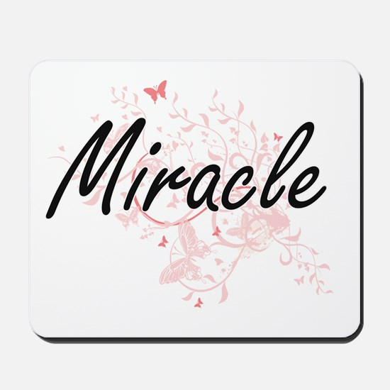 Miracle Artistic Name Design with Butter Mousepad