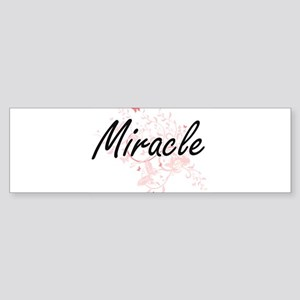 Miracle Artistic Name Design with B Bumper Sticker