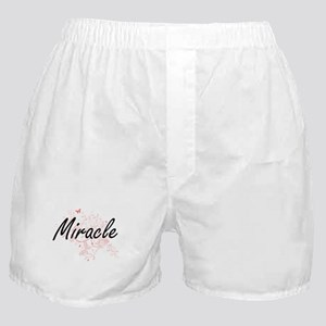 Miracle Artistic Name Design with But Boxer Shorts