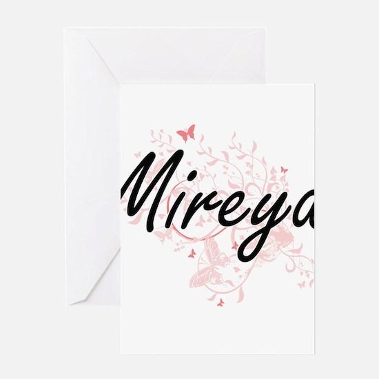 Mireya Artistic Name Design with Bu Greeting Cards