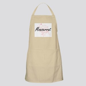 Monserrat Artistic Name Design with Butterfl Apron