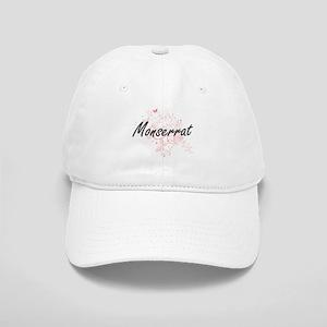 Monserrat Artistic Name Design with Butterflie Cap