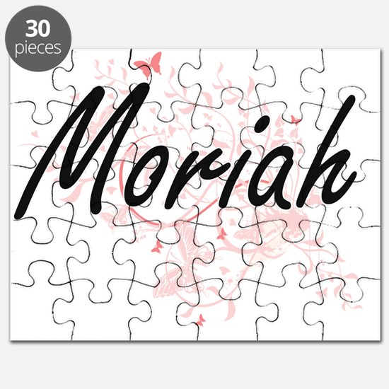 Moriah Artistic Name Design with Butterflie Puzzle