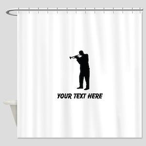 Trumpet Player (Custom) Shower Curtain