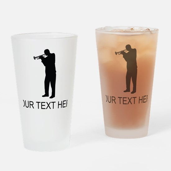 Trumpet Player (Custom) Drinking Glass