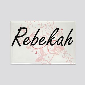 Rebekah Artistic Name Design with Butterfl Magnets