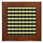Little Yellow Flowers Framed Tile