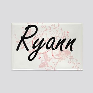 Ryann Artistic Name Design with Butterflie Magnets