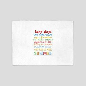 Lazy Summer Days 5'x7'Area Rug