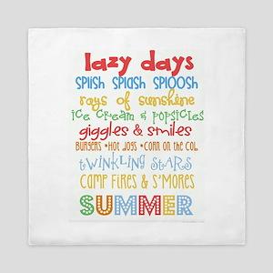 Lazy Summer Days Queen Duvet