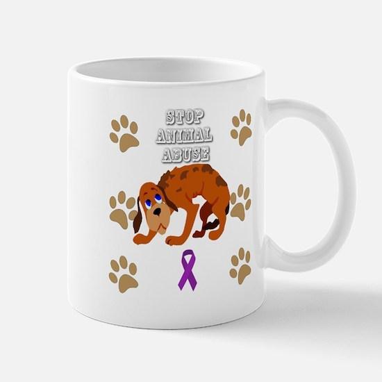 Stop Animal Abuse Awareness Mugs