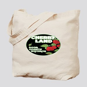 Vintage Cherry Land Tote Bag
