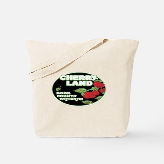 Vintage Cherry Land Tote Bag