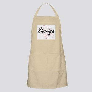 Shaniya Artistic Name Design with Butterflie Apron