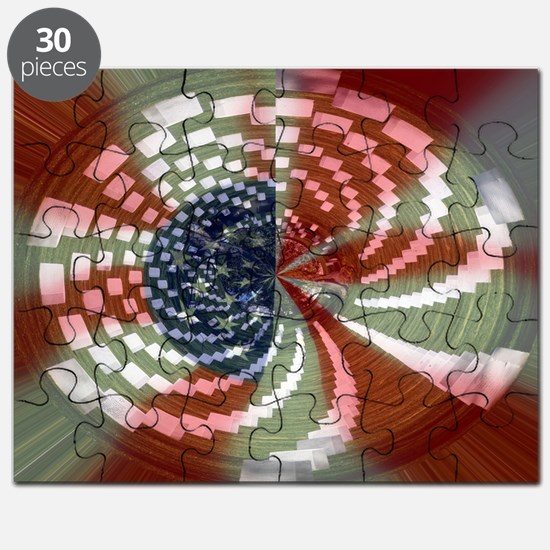 Unique Stars and stripes Puzzle