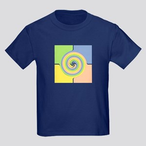 Square Design Kids Dark T-Shirt