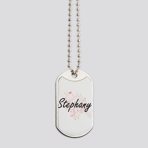 Stephany Artistic Name Design with Butter Dog Tags