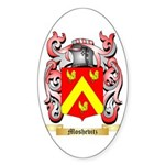 Moshevitz Sticker (Oval 50 pk)