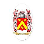 Moshaiow Oval Car Magnet