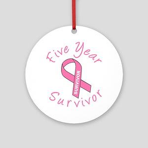 Five Year Survivor Ornament (Round)