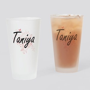 Taniya Artistic Name Design with Bu Drinking Glass