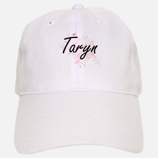 Taryn Artistic Name Design with Butterflies Baseball Baseball Cap