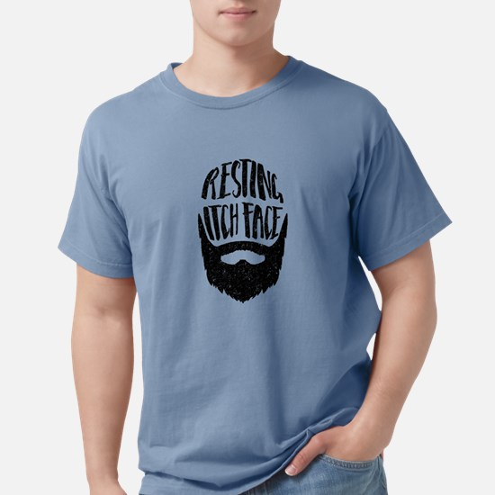 Resting Itch Face Funny Beard T-Shirt