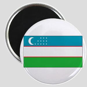 Uzbekistan Blank Flag Magnet