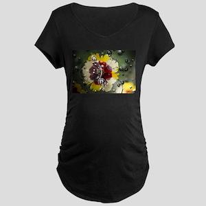 Underwater Bubble Flower Maternity T-Shirt