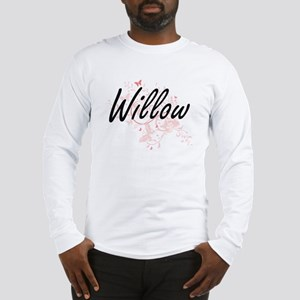 Willow Artistic Name Design wi Long Sleeve T-Shirt