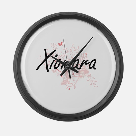 Xiomara Artistic Name Design with Large Wall Clock