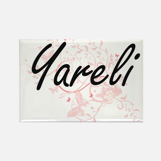 Yareli Artistic Name Design with Butterfli Magnets