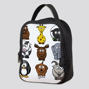 Animals cartoon Neoprene Lunch Bag