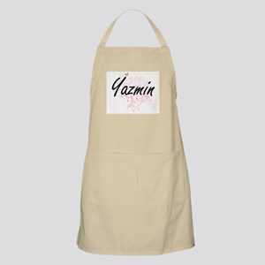 Yazmin Artistic Name Design with Butterflies Apron
