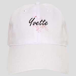 Yvette Artistic Name Design with Butterflies Cap