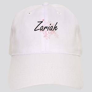 Zariah Artistic Name Design with Butterflies Cap