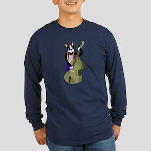 Boston Terrier Bass Long Sleeve Dark T-Shirt