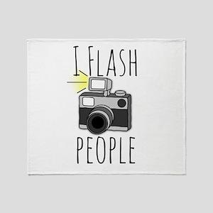 I Flash People - Photography Throw Blanket