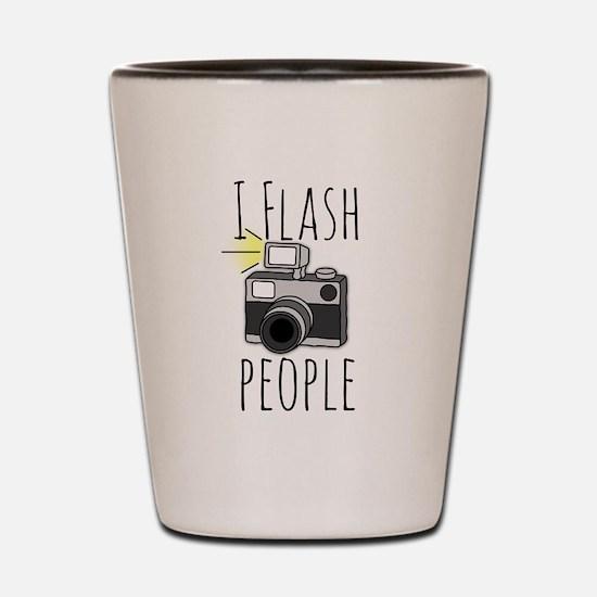 I Flash People - Photography Shot Glass