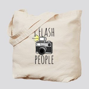 I Flash People - Photography Tote Bag