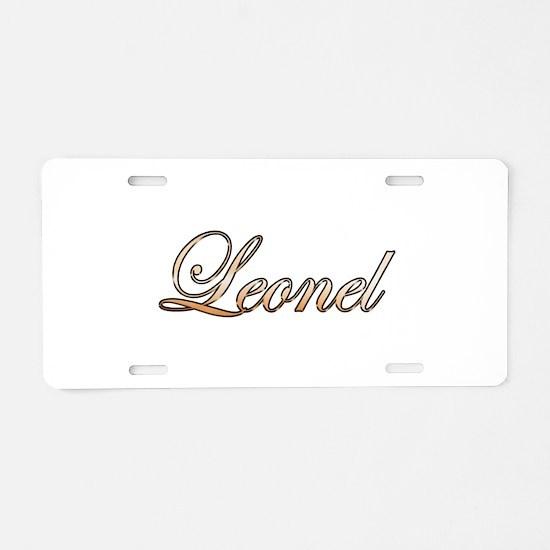 Gold Leonel Aluminum License Plate