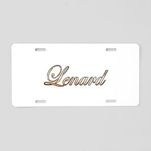 Gold Lenard Aluminum License Plate