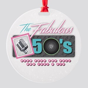 Fabulous 50s Round Ornament
