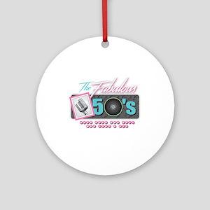 Fabulous 50s Round Ornament