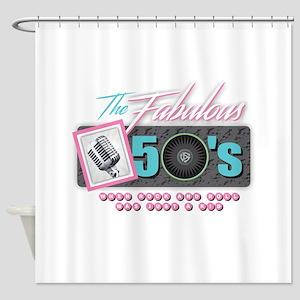 Fabulous 50s Shower Curtain
