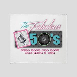 Fabulous 50s Throw Blanket